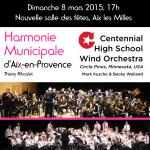 Affiche concert HMAP 8 mars Centennial Wind Orechestra