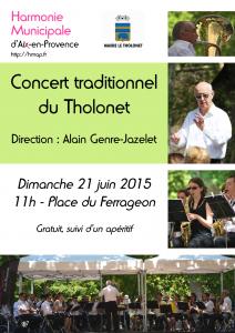 Affiche du concert HMAP au Tholonet le 21 juin 2015