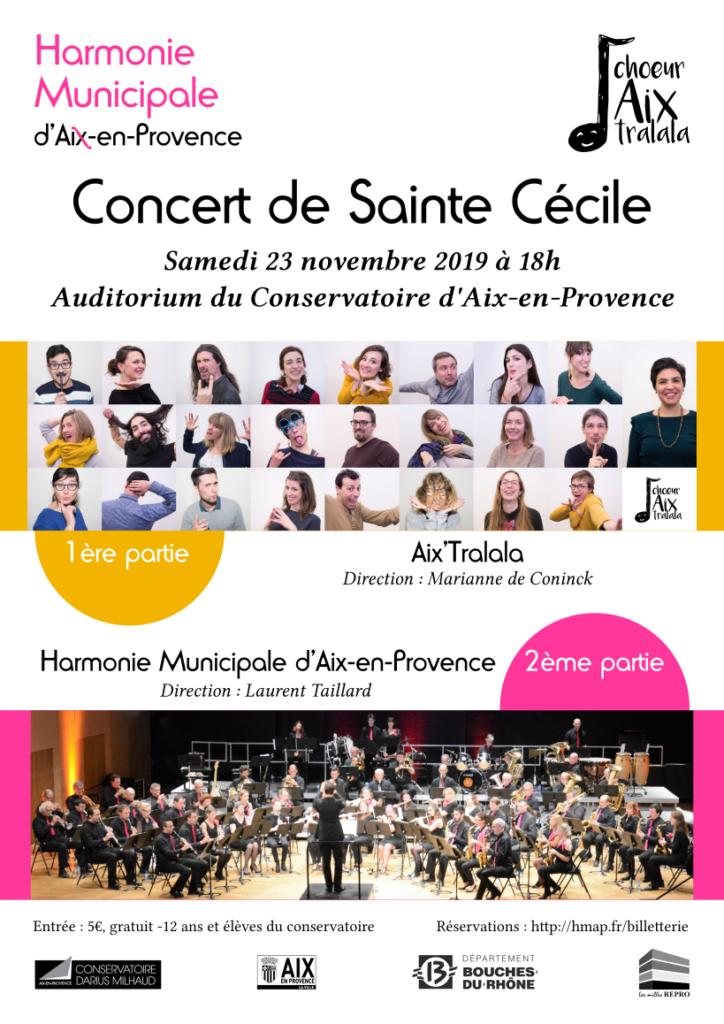 Affiche du concert de Sainte Cécile 2019 de l'HMAP